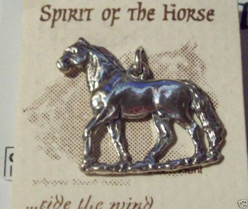 Sterling Silver 24x26mm Heavy Morgan Horse Charm double sided