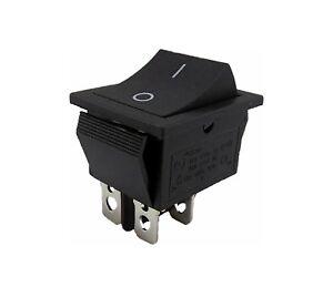 Einbau-Wippschalter-2-polig-4pin-16A-250VAC-28-5-21-5mm-Wippe-unbeleuchtet