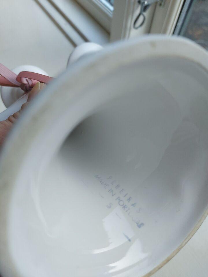 Keramik, 3 armet lysestage, retro
