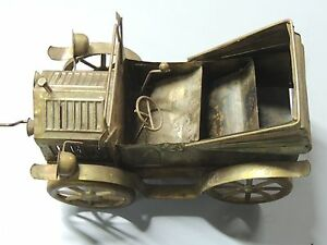 Details about Vintage Music Box Copper Brass Tin Antique Car, Tune is
