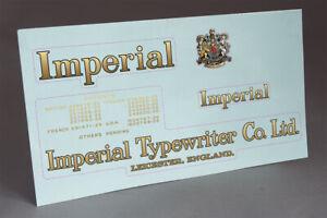 Royal 10 Typewriter Water Slide Decal set /_ Early model