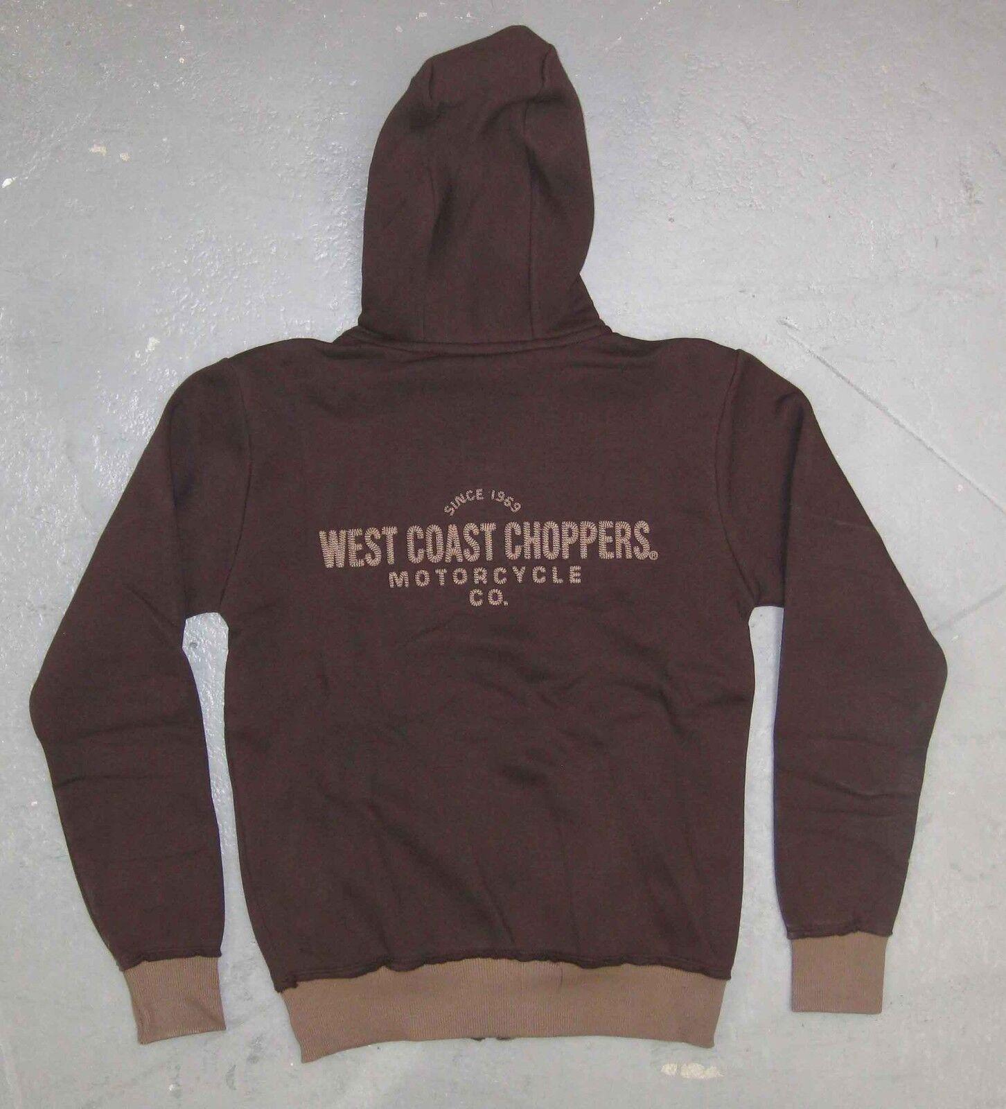 ORIGINALE Giacca in Felpa in Marronee di West West West Coast Chopper Jesse James 33e40a