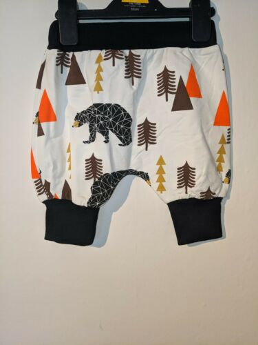 Baby Boys Trousers Pant Bloomers Shark Bear 9 12 18 24 Months