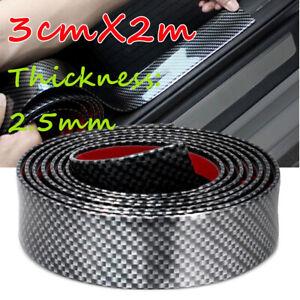Coche-3CM-2M-adhesivo-caucho-Hazlo-tu-mismo-alfeizar-de-la-puerta-de-fibra-de-Carbono-Protector-de