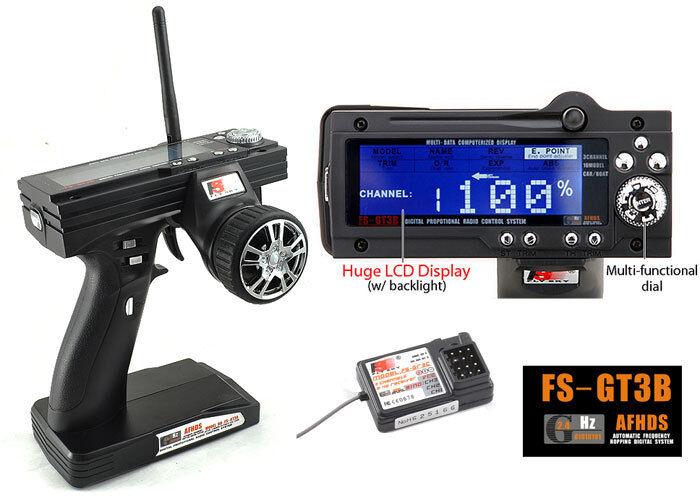 RADIO CONTROL 3 CHANNELS FLYSKY GT3B ITALIAN WARRANTY