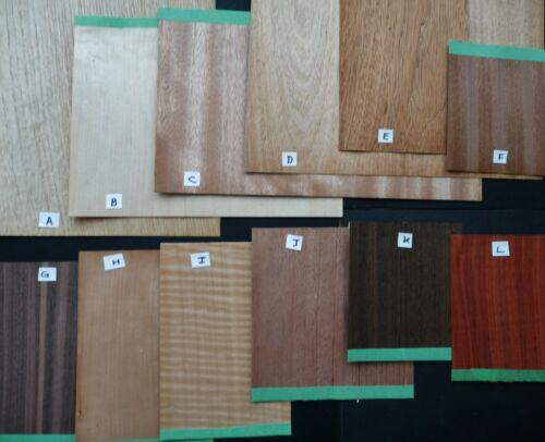 Hardwood Veneer Antique Clock or Furniture Repair Parts Assortment B