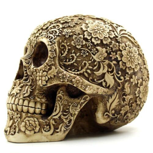 1:1 Life Size Statue Skull Skeleton Head Halloween Figurine Statue Decoration
