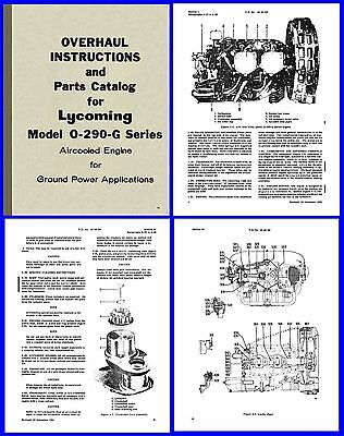 Lycoming O-290-G Ground Power Unit Manuals x3 on CD | eBay