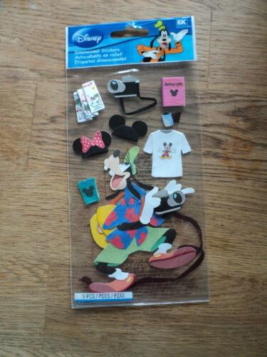 EK Success Disney touristique GOOFY STICKERS Entièrement neuf sous emballage