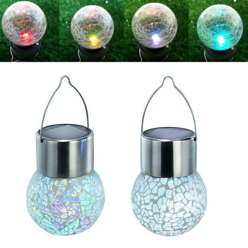 Solar Ball Garden Hanging Outdoor Landscape LED Lamp Yard LED Light Color Change