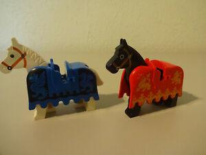 ( 10 ) Lego Pferd Satteldecke Ritter Piraten Western 6080 6085 6086 usw.