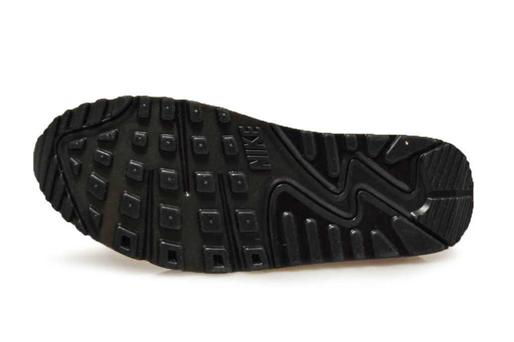 Herren NIKE AIR MAX 90 großes Logo - aj7182-003 - Schwarze Turnschuhe