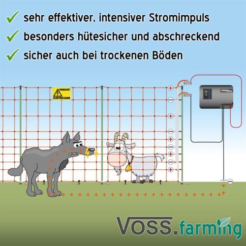 120cm Schafzaun 50m Weidezaun Plus//Minus Wolfsnetz Schafnetz Wolfsabwehr Netz