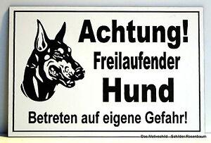 Türschilder Dekoration Achtung Freilaufender Hund,türschild,hinweisschild,gravur,12 X 8 Cm,warnschild Festsetzung Der Preise Nach ProduktqualitäT