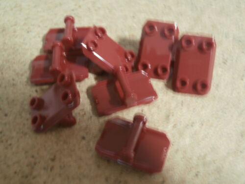 LEGO VRAC 8 x plaque culbuteur modifiée 2 x 3 rouge Dark red rocker plate Neuf