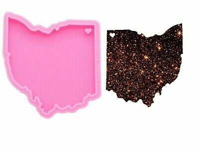 West Virginia State Map Shiny Silicone Mould DIY Epoxy Keychain Resin Craft Mold