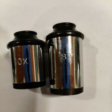 Spencer 6x And 10x Antique Eyepieces Optics Microscope Part As Pictured