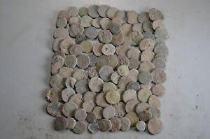 LOT 100 ANCIENT ROMAN BRONZE COINS ,LITTLE BRONZE COINS, AE 4, 9-15mm -2