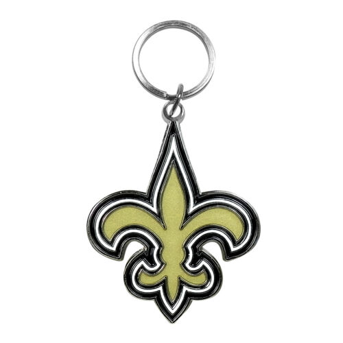 NFL New Orleans Saints 3D Emblem Metal Key Chain