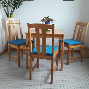 Esstisch Mit Stühlen Gebraucht : esstisch mit 3 st hlen quadratisch 75cm holz markenlos gebraucht 4 teile ebay ~ A.2002-acura-tl-radio.info Haus und Dekorationen