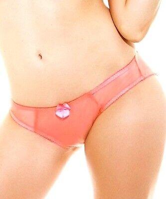New Claudette Dessous Thong Bikini Panty Panties Lingerie Orange Soda Strawberry