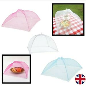 best website 761a2 ccccd Details about Pop Up Food Mesh Net Umbrella Reusable Collapsible Cover Tent  Fly Screen Dome UK