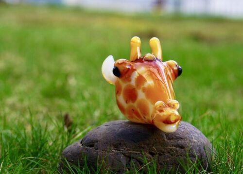 Handmade Giraffe/'s head glass tobacco pipe By Bluejay Glass