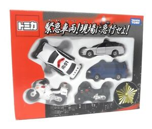 Tomica-Takara-Tomy-maqueta-de-coche-5er-set-policia-vehiculos-de-policia-motos-Japon
