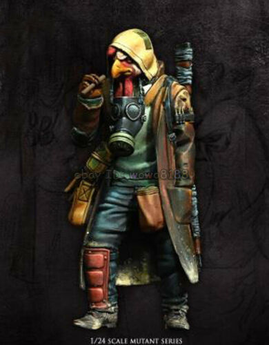 1//24 75mm Ancient Fantasy Man Warrior Stand Resin Figure Model Kits Unpainted GK