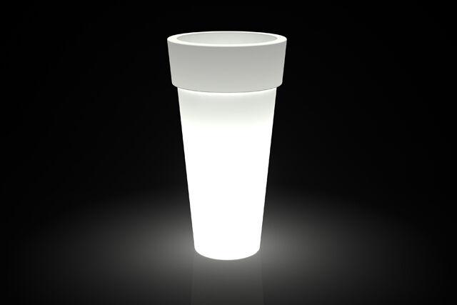 Iluminado rojoonda alta maceta para interior-exterior-uso plástico h43, 70,92