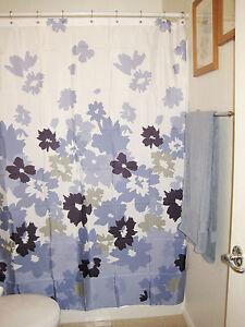 fabric apt 9 bloom purple blue white floral print shower curtain ebay. Black Bedroom Furniture Sets. Home Design Ideas