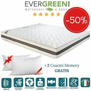 Evergreenweb Materassi.Evergreenweb Materasso A Molle In Acciaio E Waterfoam Cuscini