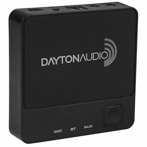 Dayton-Audio-WBA31-Wireless-Wi-Fi-amp-Bluetooth-Audio-Receiver-with-IR-Remote
