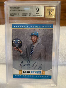 ANTHONY-DAVIS-2012-13-PANINI-HOOPS-AUTOGRAPH-ROOKIE-CARD-BGS-9-AUTO-10-MINT