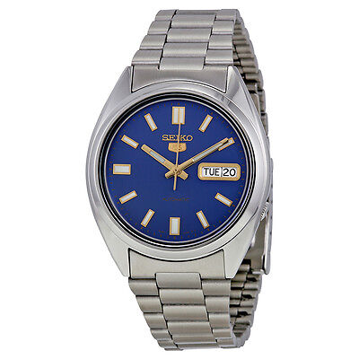 Seiko 5 Automatic Blue Dial Mens Watch SNX799