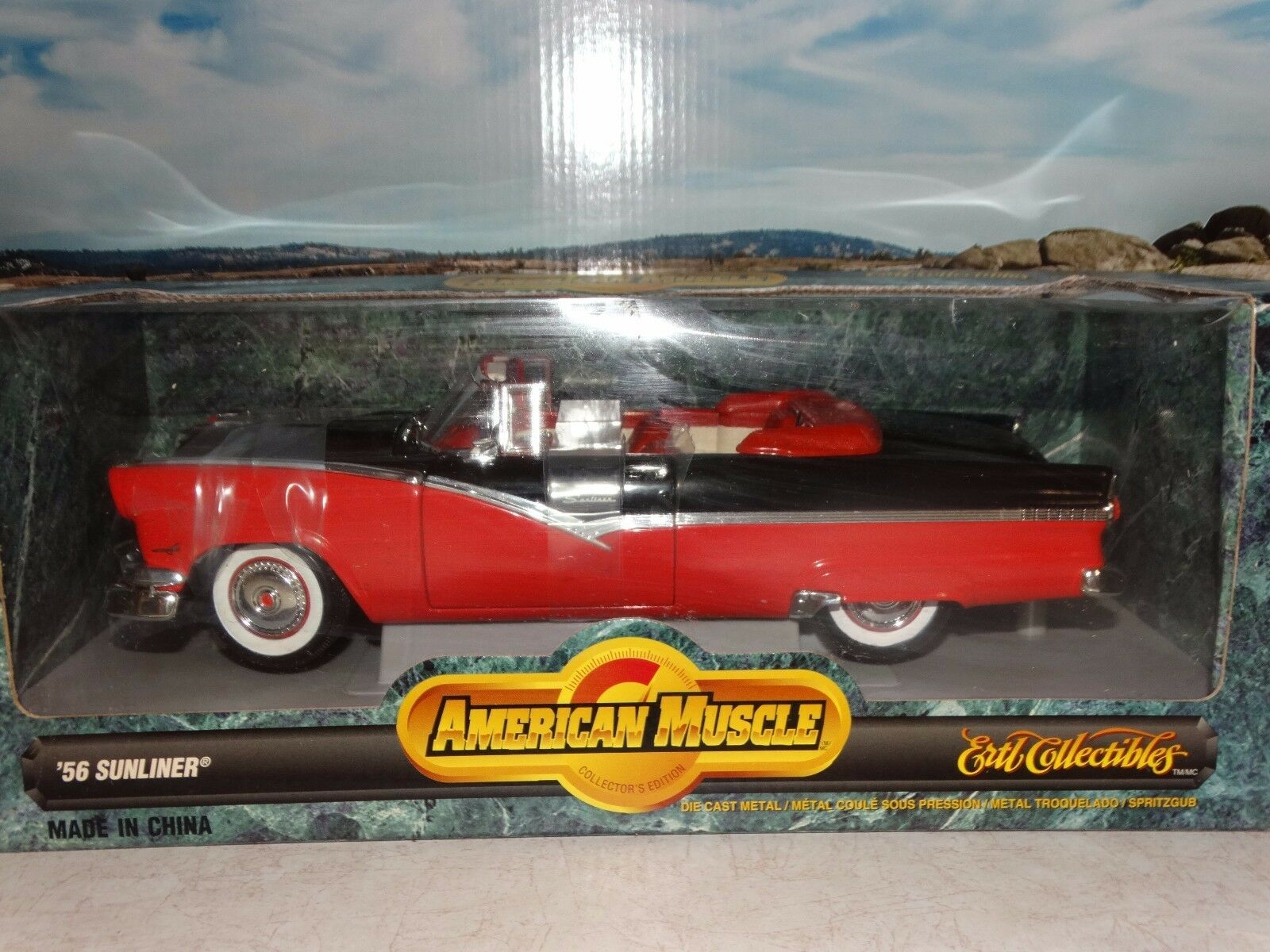 Ertl American Muscle 1956 Ford Fairlane Sunliner Congreenible 1 18 Die Cast Car