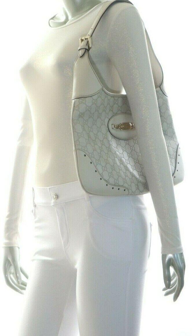 Gucci Guccissima Punch Hobo Off White - image 2