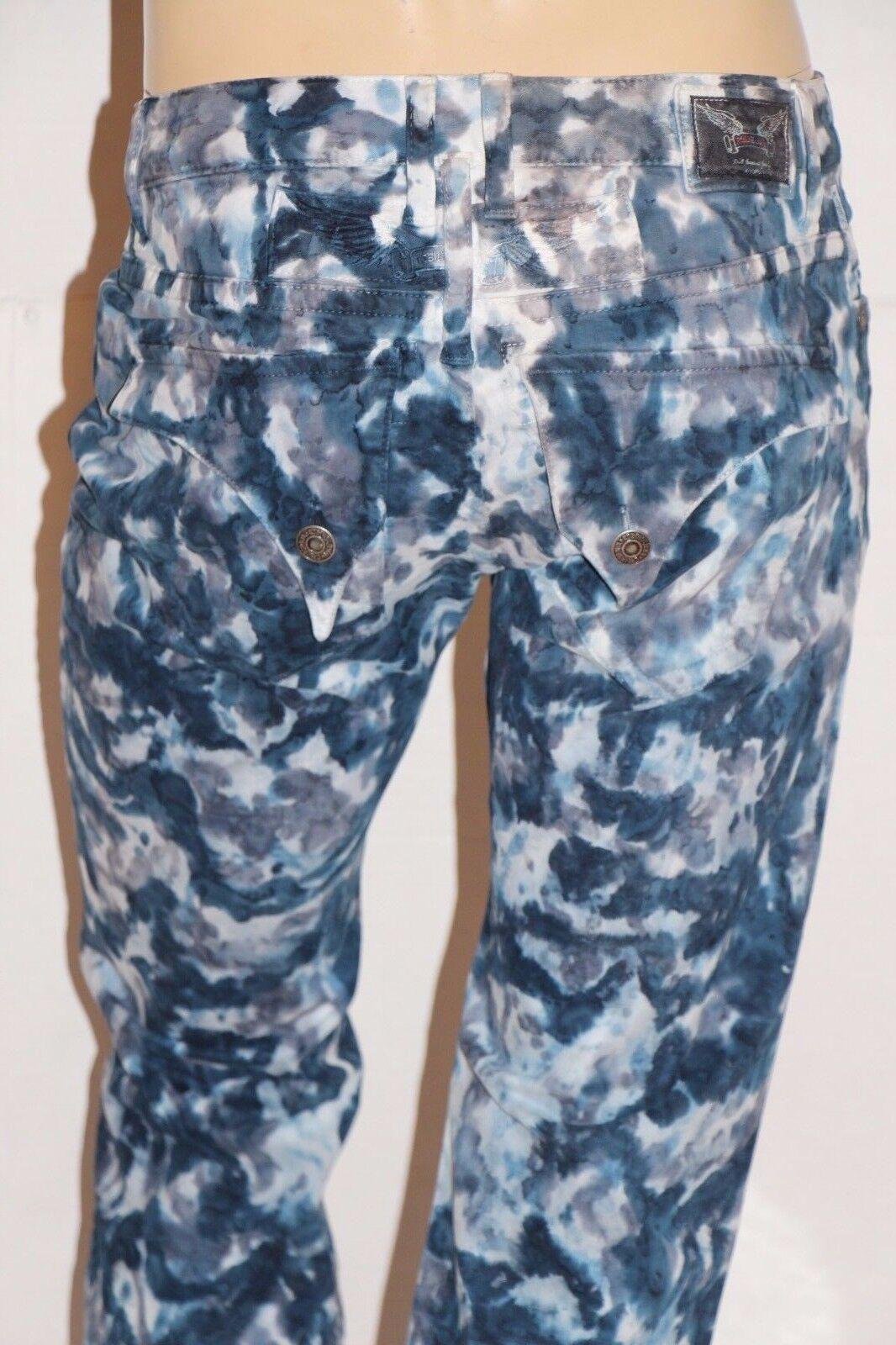 Neu Herren ROTKEHLCHEN Jeans Sz 30 Style  SP5687 Lang Überschlag Gerades Bein