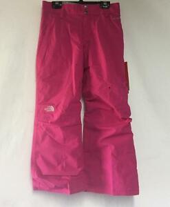 The North Face Youth Girls Derby Snow Ski Winter Pant Razzle Pink Large NEW