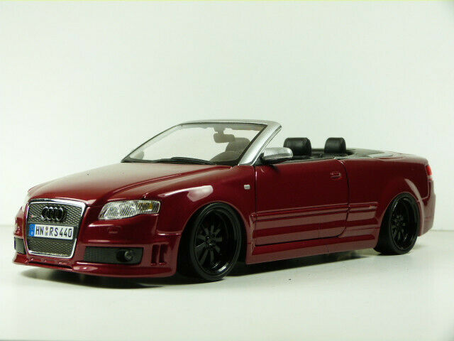 AUDI RS4 CABRIO, 1 18, weinrot – OVP + Tuning