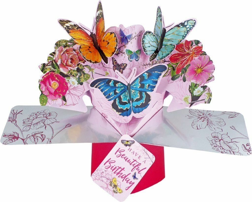 Strange 3D Pop Up Card Birthday Butterflies Blank Greeting Cards Keepsake Funny Birthday Cards Online Inifofree Goldxyz