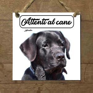 Labrador-Retriever-NERO-MOD-1-Attenti-al-cane-Targa-cane-cartello-ceramic-tiles