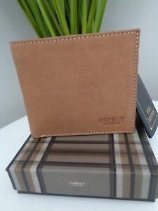 BNWT Osprey London Cognac Thornton Goat Skin Leather BillFold Wallet ... cb39f5c0f7