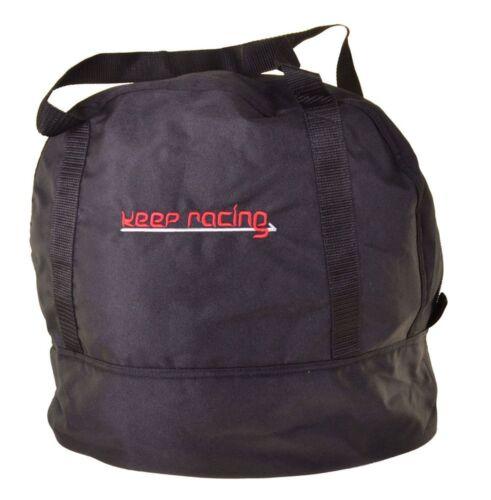 Innenfutter weiß Reißverschluss keep-racing® Helmtasche schwarz