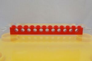 Missing Lego Brick 3895 Red x 4 Technic Brick 1 x 12 with Holes