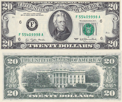 1977 $20 Atlanta District Federal Reserve Note FR 2072-F Uncirculated