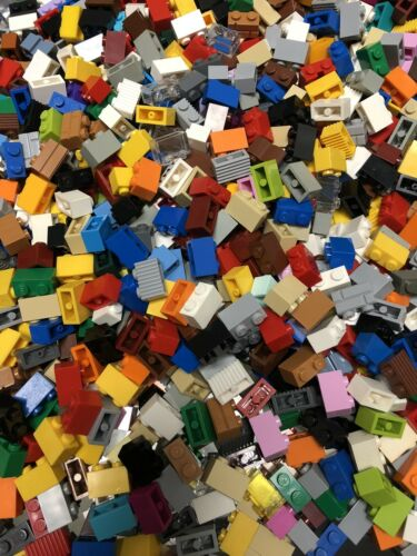 LEGO 250 Mixed 1x2 Building Brick BUY 2 GET 1 FREE  Blocks LEGOS Free Ship
