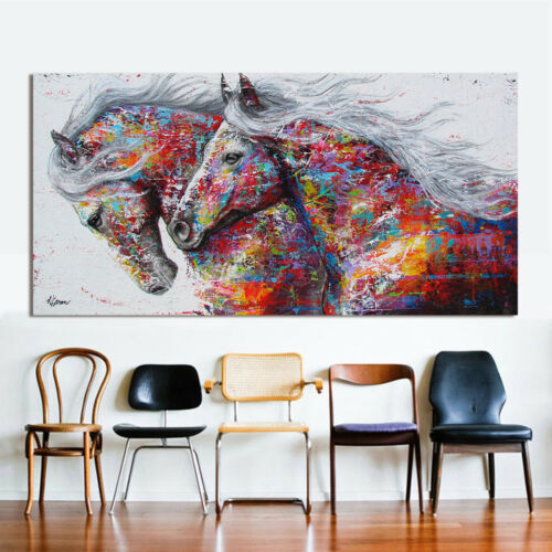 Home living room for art wall Decor Running horse painting Printed on canvas