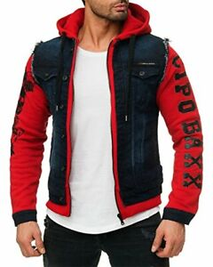 CIPO-amp-BAXX-CONWAY-MENS-JEANS-HOOD-JACKET-VEST-DENIM-ALL-SIZES
