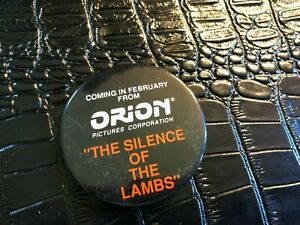 VINTAGE-PROMO-PINBACK-BUTTON-130-038-movie-SILENCE-OF-THE-LAMBS